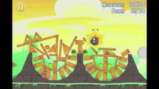Angry Birds Seasons Go Green, Get Lucky 3 Star Walkthrough Level 13