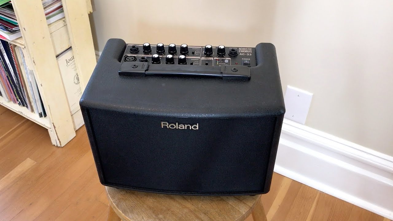 Classical Guitar Amp: Roland AC-33 Acoustic Chorus Guitar Amplifier