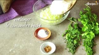 Raïta de concombre à la menthe