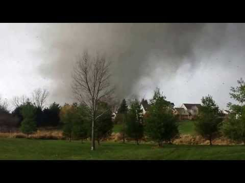 Washington il Tornado Caught on Camera Destroy the House