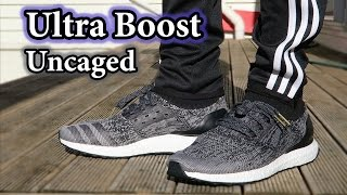 """""""Uncaged"""" Adidas Ultra Boost Unboxing & On-Feet w/ Different Pants"""