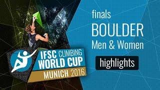 IFSC Climbing World Cup Munich Highlights Bouldering Finals by International Federation of Sport Climbing