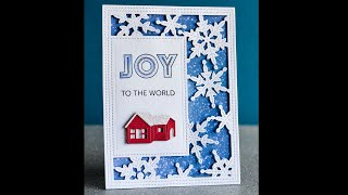 2106 Simple Pinpoint Snowflake Frame