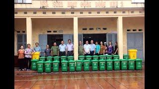 Khu 2, phường Quang Trung: người dân tự trang bị thùng đựng rác gia đình