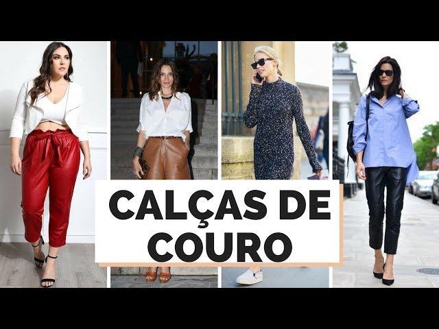 CALÇAS DE COURO COMO USAR | MARI FLOR - Closet da Mari