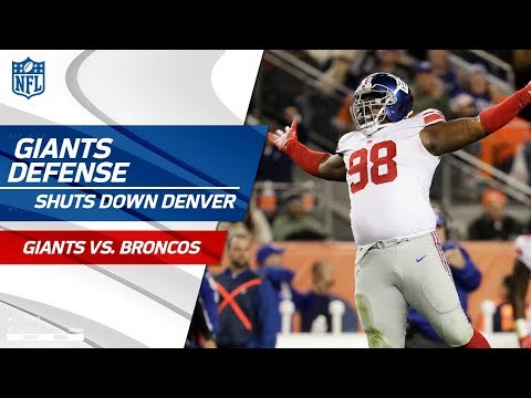Video: New York Shuts Down Denver's Offense! | Giants vs. Broncos | Wk 6 Player Highlights