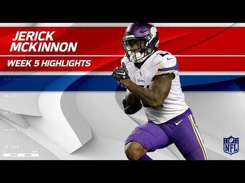 Video: Jerick McKinnon's Huge Night w/ 1 TD & 146 Total Yards! | Vikings vs. Bears | Wk 5 Player Highlights
