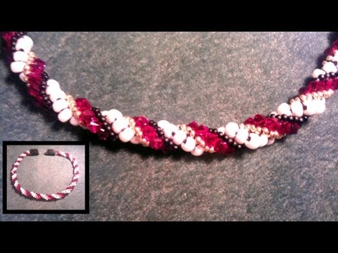 Beading4perfectionists : Dutch Spiral necklace beginners beading tutorial