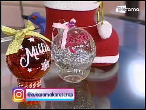Aprenda a realizar esferas navideñas personalizadas