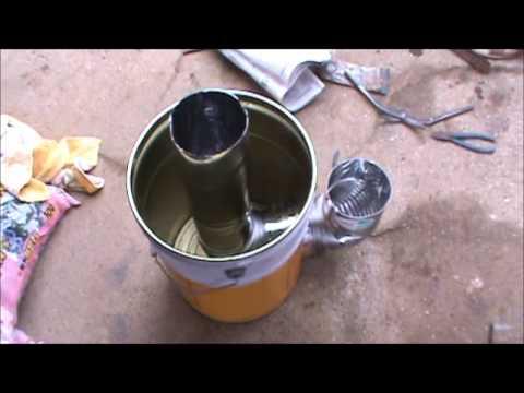 ロケットストーブの作り方 Make a rocket stove