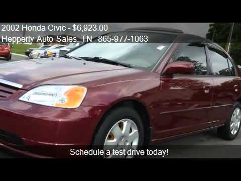 2002 honda civic ex sedan - This 2002 Honda Civic EX 4dr Sedan is for sale in Maryville, TN 37804 at Hepperly Auto Sales. Contact Hepperly Auto Sales at http://www.carsforsale.com/used-cars-for-sale/2002-honda-civic-maryvill...