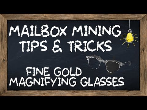 Gold Panning - Equipment I Use - Magnifying Glasses
