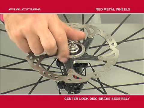 Fulcrum Red Metal Wheels - Assembling center lock disc brake