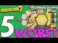Top 5 Worst Shields in Borderlands 2 #PumaCounts