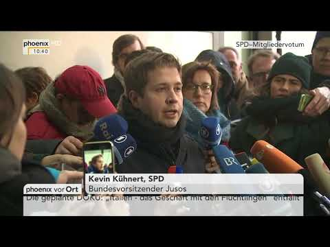 Kevin Kühnert (SPD): Pressestatement nach SPD Mitg ...