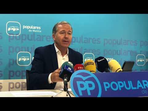 """Marín: """"Para el Partido Popular lo primero es Melilla y los melillenses"""""""