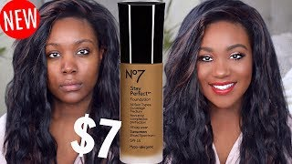 "New drugstore foundation for $7! Foundation Routine for Oily Skin, How To Cover Acne Scars With Makeup + Contour / Highlight with Powder. If you want me to do a full video with this makeup technique, let me know:) This foundation is suppose to stay all day, perfect in place, not move + working great for all skin types. It also has a great color range from fair, mediym, brown,dark,deep skin. WOC APPROVED Color range now the foundation, well watch the video.SUBSCRIBE LINK:http://bit.ly/1RDpkFtSUBSCRIBEWhen I'm not on here, I'm here:)http://www.roselkimberly.com/http://instagram.com/roselkimberlyhttps://twitter.com/RoseLKimberlySnapchat- roseyrosechickTOP 3 PLAYLISTSHOW TO VIDEO'S Black Woman: https://www.youtube.com/watch?v=A7kmk...Makeup Tutorials:https://www.youtube.com/watch?v=UbENJ...Drugstore Reviewshttps://www.youtube.com/watch?v=sgnBc...♥ ♥♥ ♥♥ ♥♥ ♥♥ ♥♥ ♥♥not sponsored.Camera: Nikon d5100Editing: Final Cut Pro 10For any business inquiries please use the email below with the subject ""Rose Kimberly"": business@beaufreshmedia.comR O S E K I M B E R L Y NEW video every Wednesday, and Sunday 10:00pm EST/07:00pm PST! I'm a 22 NYC girl who Graduated with my bachelor's in Cosmetics Chemistry and Marketing. I studied makeup, hair, nail, skincare + MORE.Subscribe & Let's be friends!PRODUCTS USED TODAYNo 7 Stay Perfect Foundation *ChestnutWet N Wild Concealer *Medium DeepMaybelline FIT ME Powder *320Black Radiance Contour Palette *Light to MediumMAKEUP LOOK: TUTORIAL COMING SONVIDEO I was talking about: https://www.youtube.com/watch?v=5MN_z-cKzgc"