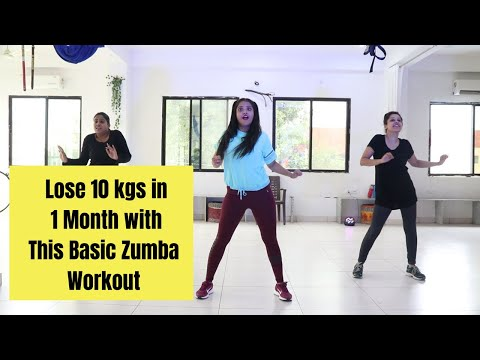 lose 10 Kgs in 1 month with this Zumba Workout |Basic |Burn 600 Calories |Somya Luhadia