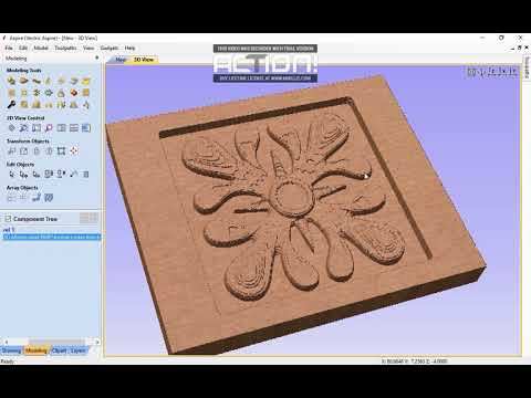 Aspire Vectric Tutorial Making A 3D Relief