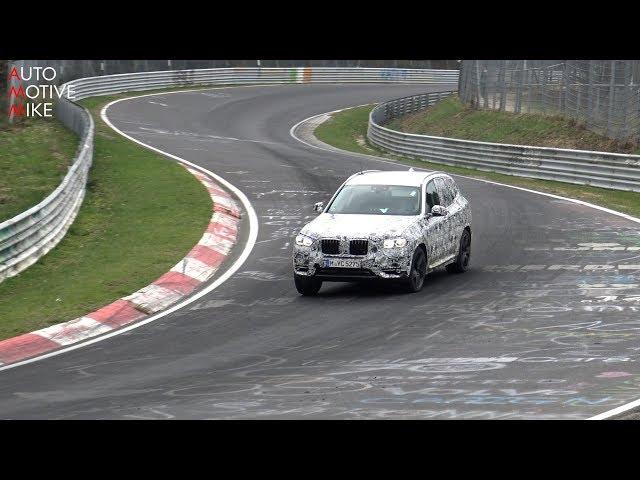 2019 BMW X3 M spied testing at the Nürburgring