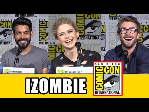 iZombie Comic Con Panel - Season 2, Rose McIver, David Anders, Rahul Kohli, Robert Buckley