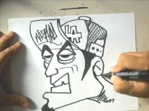 How to draw a  graffiti character  By El Wizard