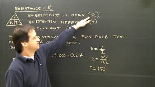 Simple Electricity Calculations R =V/I Part 5