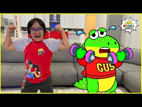Ryan exercise to be Strong and learn Healthy Habits with Gus!!!