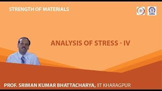 Lecture - 5 Analysis Of Stress - IV