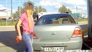 Женщины за рулем, подборка дтп