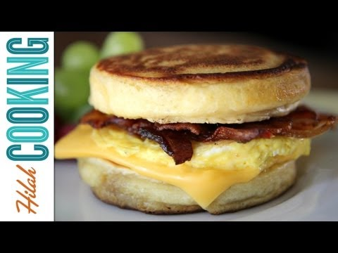 hilahcooking - Make your own McDonalds McGriddles breakfast sandwich! WARNING: This is one of the most difficult recipes we've attempted so far. Printable recipe at: http:/...
