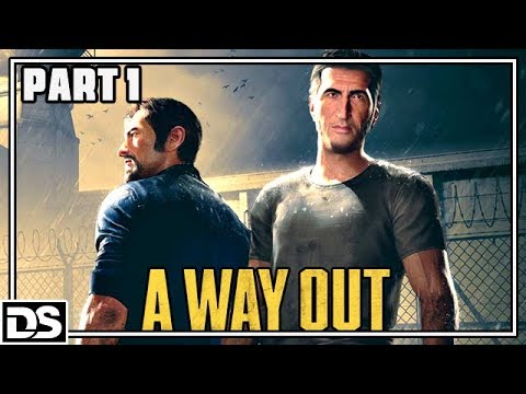A Way Out Gameplay German PS4 Part 1 - Willkommen im Knast - Let's Play A Way Out Deutsch (видео)
