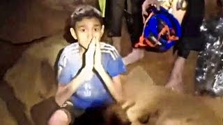 First Moment Rescuers Find Soccer Kids Trapped in Thailand Cave - Missing 10 days