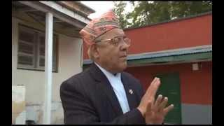 Bamdev Gautam with Rishi Dhamala