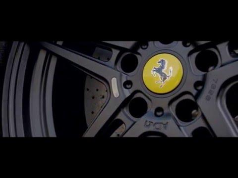 Ferrari California ADV1 wheels and capristo exhaust