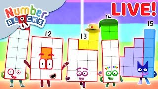 🔴 Numberblocks | NEW EPISODES LIVE! | Learn to Count