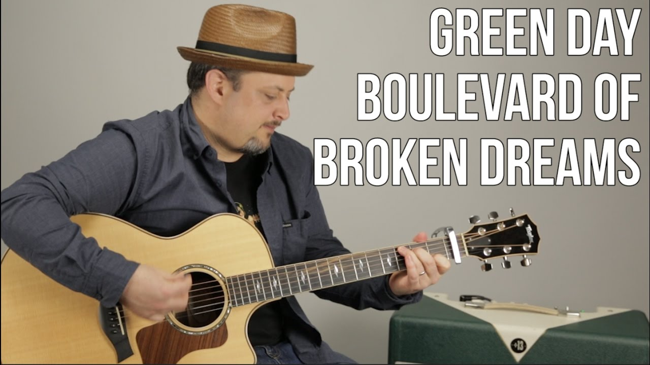 Green Day – Boulevard of Broken Dreams – Guitar Lesson- Easy Beginner Acoustic Song