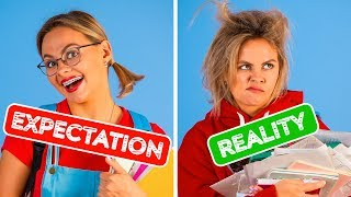 Video BACK TO SCHOOL EXPECTATION VS REALITY || Funny Situations by 123 GO! MP3, 3GP, MP4, WEBM, AVI, FLV September 2019