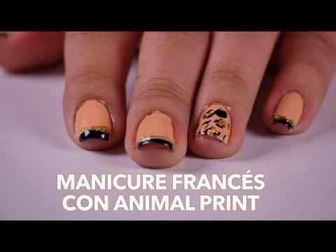 Decoracion de uñas - Como Hacer Manicure Frances con Animal Print- BellezaTv por Juan Gonzalo Angel