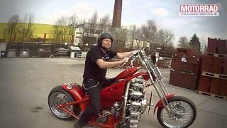 Мотоцикл с двигателем от самолета