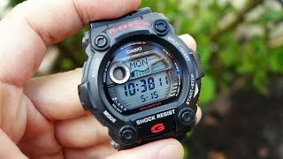 "Review of this water sports oriented G-Shock piece, featuring moon phase & tide indicators, dual stopwatch, EL lighting, 200m water resistance, & more!Like on Facebook: https://www.facebook.com/PerthWAtchYouTube/#casiogshock #sportswatchG-Shock Model G-7900-1 (featuring Casio Module 3194)Casio USA Listing - http://www.casio.com/products/watches/g-shock/g7900-1G-Shock Site Listing - http://products.g-shock.com/asia-mea/en/_detail/G-7900-1/===========Perth WAtch - Sharing my passion for horology and watches. Enjoy the videos on watch reviews, general thoughts & discussions, side-by-side comparisons, horology topics, and more!Watch Reviews Playlist: https://www.youtube.com/watch?v=h8DySE9bYGU&list=PL1qbhxREC4LQGhBi-ErvsxVz3Kc5P4FOxWatch Topics & Discussions: https://www.youtube.com/watch?v=u3IWov7lrrk&list=PL1qbhxREC4LT9JMopfMG2-wu6rFhsJCIuSubscribe: https://www.youtube.com/channel/UCjBOEG8LoZOV0qOO7TdlHlA?sub_confirmation=1===========Music:""Shiny Tech"" Kevin MacLeod (incompetech.com)Licensed under Creative Commons: By Attribution 3.0 Licensehttp://creativecommons.org/licenses/by/3.0/"