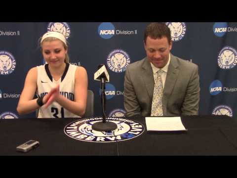 Northwood University Women's Basketball (2/19/15) NU 96, Michigan Tech 90 - Press Conference