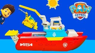 PAW PATROL Nickelodeon Sea Patroller Chase and Rubble Sea Patrol Toys