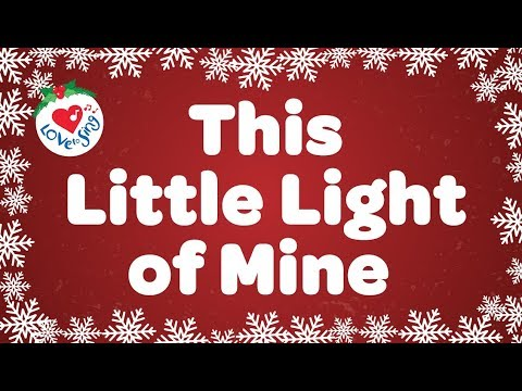 This Little Light of Mine with Lyrics   Kids Christmas Song