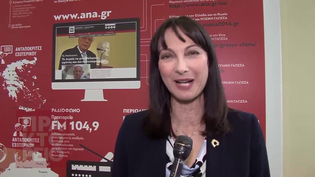 Η υπουργός τουρισμού Έλενα Κουντουρά στο ΑΠΕ-ΜΠΕ