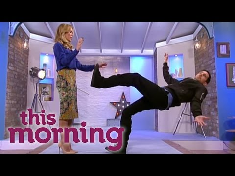 this morning - Dynamo levitates and shocks Amanda Holden by balancing. Watch more videos of This Morning on the official YouTube channel: http://www.youtube.com/thismorning http://www.itv.com http://www.stv.tv...