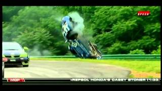 2011 Continental Tire Series Rollover Live on TV - Rick DeMan