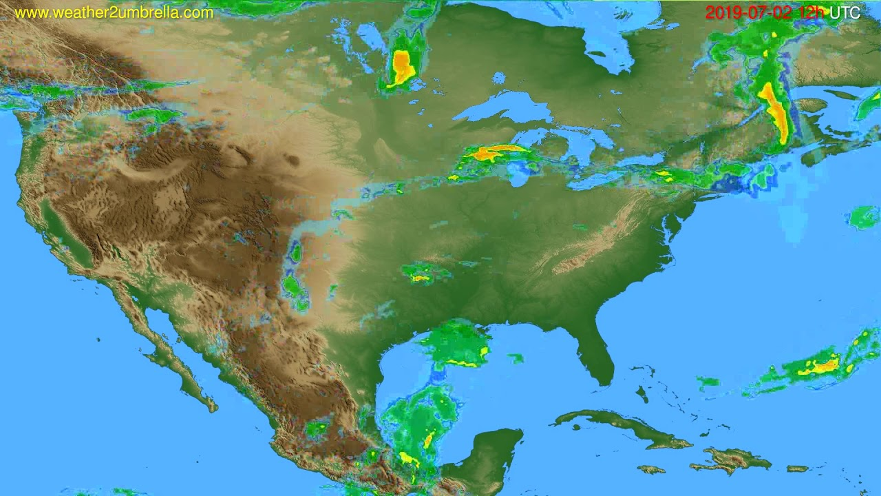 Radar forecast USA & Canada // modelrun: 00h UTC 2019-07-02
