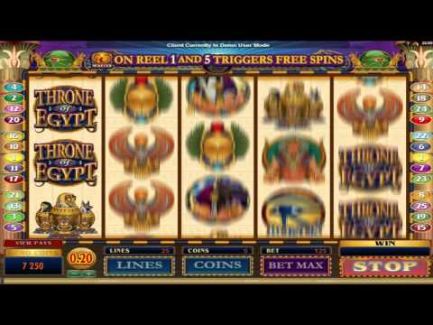 Throne Of Egypt ™ free slots machine game preview by Slotozilla.com