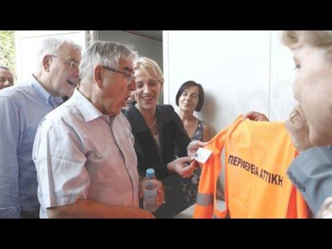 Επίσκεψη του Ζαν Κλωντ Φρεκόν στο κέντρο Logistics της Περιφέρειας Αττικης
